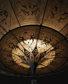 Fortuny Lamp 3 Tier Scheherazade Geometrico Pattern, Detail BUY thru www.luminosodesign.com