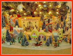 Howard Lamey's Christmas Putz display