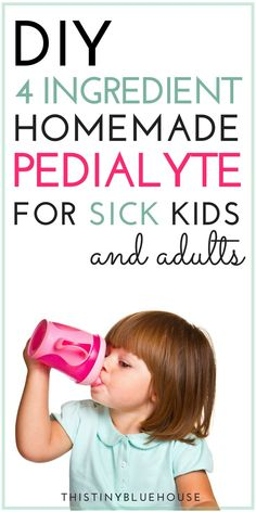 DIY 4 Ingredient Homemade Pedialyte for Sick Kids and Adults. If your kiddo is struggling with the stomach flu you can try this awesome homemade electrolyte solution to keep them hydrated and on the road to feeling well again. Toddler Flu, Sick Toddler, Sick Kids, Sick Baby, Baby Health, Kids Health, Homemade Pedialyte, Homemade Electrolyte Drink, Homemade Gatorade