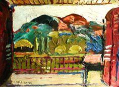 My Balcony, La Motte Oil on Board 23 x 28 cms