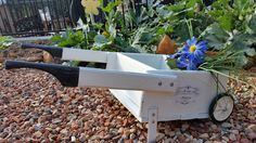 French provincial flower wagon // French decor // Shabby chic // Gift for her // Gift for gardener // Housewarming gift // Wheelbarrow by BornAgainBargainsCo on Etsy