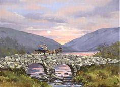 Impressionist scene of iconic image of the movie