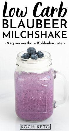 Low Carb Dessert, Mason Jars, Snacks, Mugs, Tableware, Milkshake Recipes, Strawberry Mousse, Frozen Blueberries, Appetizers