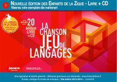Enfants de la Zique – Nouvelle édition : «La Chanson – Jeu de langages» |