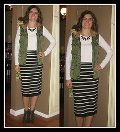 Stripe Skirt: Vodka Infused Lemonade