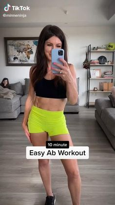 Easy Ab Workout, Flat Belly Workout, Gym Workout Videos, At Home Workout Plan, At Home Workouts, Workout Fitness, Fitness Inspiration, Fat Burning, Losing Weight