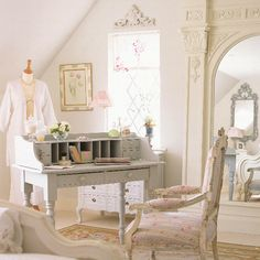 French style bedroom -- alter colors a little, NO PINK