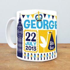Prince George Royal Baby mug by SusanTaylorUK on Etsy, $17.00