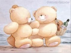 Picnic at the Beach Friend Cartoon, Bear Cartoon, Cartoon Pics, Valentines Day Images Free, Teddy Bear Pictures, Blue Nose Friends, Friends Image, Love Bear, Tatty Teddy