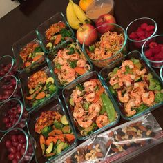"""Yes you can do this too!!! Join the meal prep movement... Yes you can do this too!!! Join the meal prep movement Cant get enough of this midweek motivational meal prep from your girl @map3r3z17 """" Meal Prep Done Right Salmon Patties Stir fry veggies Angel hair with shrimp Grapes Bananas Raspberries Peanut Butter Trailmix Apples """" YOUR TURN! Check out some of our favorite meal prep gear & containers to start meal prepping on our website! (Mealprepster.com) Follow & Tag us in your meal preps…"""