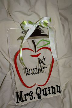 A+ Teacher ... Teacher Appreciation Gift ...Personalized Vinyl