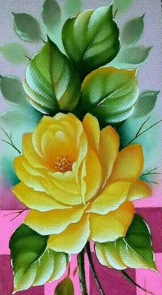 Sacred Really Like - 22 Solutions That Should Change The Tide In Your Daily Life Along With The Lives Of Any Individual Rosa Amarela One Stroke Painting, Tole Painting, Fabric Painting, Painting & Drawing, Watercolor Paintings, Pinterest Pinturas, Fabric Paint Designs, Flower Pictures, Flower Art