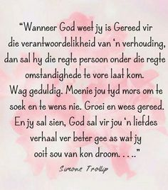 God se tyd... #Afrikaans __[Sielskos/FB - Simone Trollip]