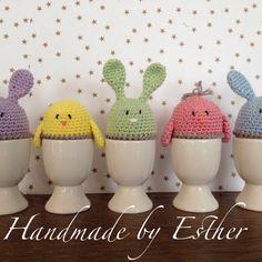Happy Easter, Easter Bunny, Easter Eggs, Easter Crochet Patterns, Knit Patterns, Love Crochet, Knit Crochet, Diy Blog, Cactus