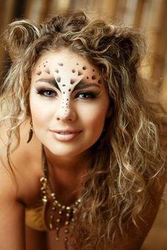 cheetah-party-makeup, the brow/nose is nice.