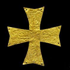 Langobardische goldene Kreuz - Fiesole, Museo Civico Archeologico