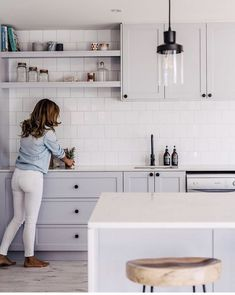 Having created a green kitchen in their latest whole home reno, Lana Taylor of Three Birds Renovations reveals her tips for embracing bright hues in Home Decor Kitchen, Kitchen Interior, New Kitchen, Home Kitchens, Kitchen Dining, Kitchen Ideas, 10x10 Kitchen, Kitchen Shelves, Kitchen Splashback Ideas