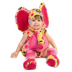 Pink Baby Girl Elephant Cute Animal Infant Halloween Costume