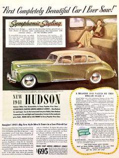 1947 Hudson Automobiles Metal Sign Vintage Look Reproduction