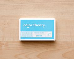 Color Theory Ink Pad: Clear Blue at @studio_calico