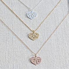 Heart Monogram Necklace