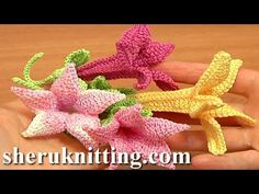 Get the more patterns at http://sheruknitting.com/ Crochet bell flower pattern, crochet flower library, crochet flower for embellishing any of your crochet a...