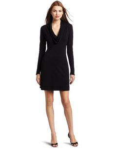 Bobi Women's Long Sleeve Cowl Neck Dress  Black  LargeFrom #Bobi List Price: $70.00Price: $22.97