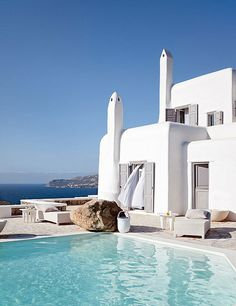 a stylish house on mykonos, greece by the style files, via Flickr