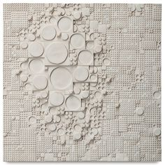 """Rut Bryk, Wall relief (c. 1968) -  """"This is an extraordinary example of Rut Bryk's work – the purity of the circles and squares and varying depths take this work into abstraction, a departure from her more common figurative works. This is one of the best examples of the artist's work to ever hit the market."""" (Peter Loughrey, Director of Modern & Contemporary Art)"""