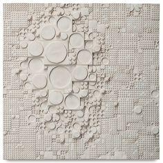 Rut Bryk; Glazed Ceramic Wall Relief for Arabia, c1968.