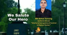 Saheed Bimal Tamang who attained martyrdom while defending our nation against Pakistani   ILS and TheDC team extends our heartfelt condolences to the family of Saheed Bimal Tamang who attained martyrdom while defending our nation against Pakistani.  General Officer Commanding 25 Infantry Division laid a wreath on behalf of Lieutenant General DS Hooda Army Commander Northern Command and Lieutenant General AK Sharma General Officer Commanding White Knight Corps. Rifleman Tamang (20) belonged…