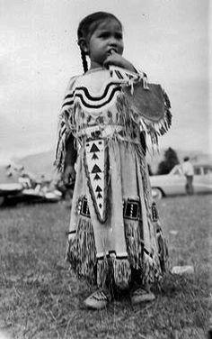 Minnie Crowfoot - Blackfoot (Siksika) - circa 1955
