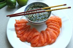 Salmon with ponzu sauce