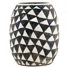 Triangles ceramic vase