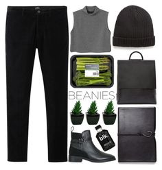 """Beanies - Polyvore Contest"" by evangeline-lily ❤ liked on Polyvore featuring Building Block, Monki, Violeta by Mango, Topshop, MIANSAI and beanies"