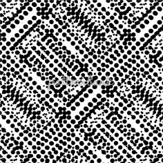 Black White Geo Pattern Made With Dots in Repeat. Dots 3DDS07