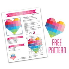 Celebrate National Sewing and Quilting Month with Fat Quarter Shop! - Fat Quarter Shop's Jolly Jabber http://static.fatquartershop.com/media/wysiwyg/pdf/ColorMyHeart-Pattern.pdf