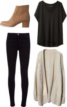 5 total black outfits for stylish school girls – 2019 &; Outfit Diy 5 total black outfits for stylish school girls – 2019 &; Outfit Diy Lemuel Ruecker Outfit for teens 5 […] outfits comfy cardigans Casual Fall Outfits, Fall Winter Outfits, Autumn Winter Fashion, Cool Outfits, Black Outfits, Casual Winter, Fashion Spring, Outfits With Boots, Casual Dresses