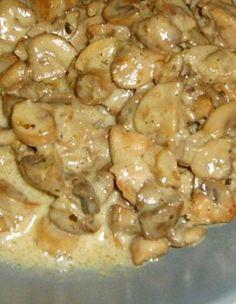 Kremalı Tavuklu Mantar   Hayat Cafe Kolay Yemek Tarifleri