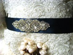 rhinestone+beaded+bridal+sash+crystal+bridal+sash+by+annabrides