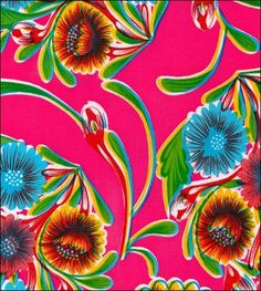 Bloom Pink Oilcloth