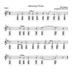 Amazing Grace - Fujara flute