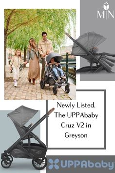NEWLY LISTED- The UPPAbaby Cruz V2 Stroller in brand new color, Greyson! Baby Gear, Baby Equipment