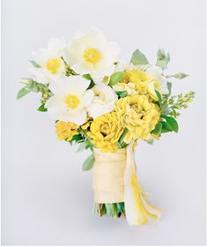 yellow gingham bouquet