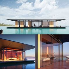 Floating House.. Designed by Singapore-based architect Dymitr Malcew