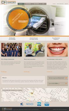 Création et conception du site web Orthodontistes Di Battista Rousseau