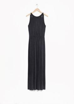& Other Stories | Sleeveless Cupro Maxi Dress