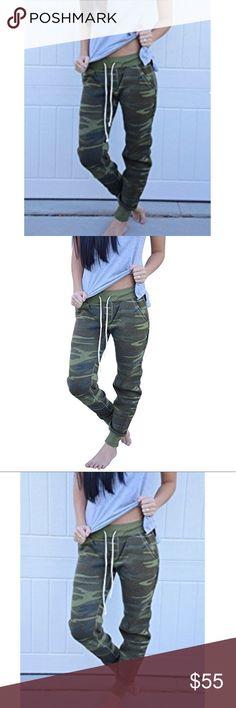 Camo jogger Stretchy fabric Pants Track Pants & Joggers