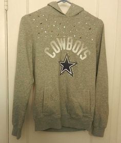 Victorias Secret Pink Official NFL Dallas Cowboys Pullover Studded Grey  Hoodie  VictoriasSecret  Hoodie   9a7f6efbf