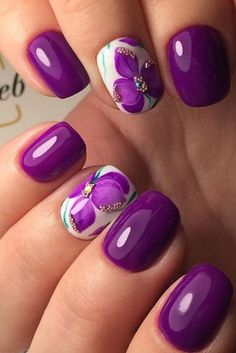 you should stay updated with latest nail art designs, nail colors, acrylic nails, coffin nails. Spring Nail Art, Spring Nails, Summer Nails, Fancy Nails, Trendy Nails, Cute Nails, New Nail Designs, Nail Designs Spring, Purple Nail Designs